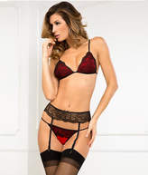 Rene Rofe Crown Pleasure Bra Garter Set Lingerie - Women's