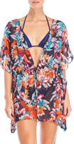 Hawaiian Tropic Printed Floral Cover-Up Kimono