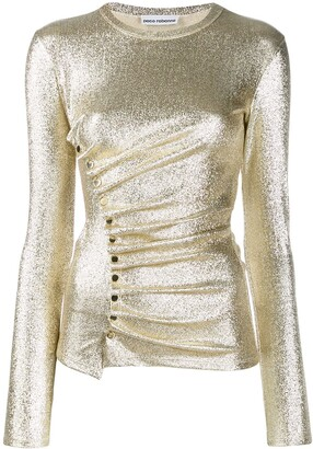 Paco Rabanne Metallic Ruched Top