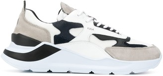 D.A.T.E Contrast-Panel Low-Top Sneakers