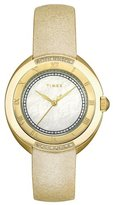 Timex Women's T2M594 Diamond Accented Cream Strap Stainless Steel Bracelet Watch