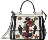 Dolce & Gabbana Small Miss Sicily Bag with Embroidered Anchor and Studs Cross Body Handbags
