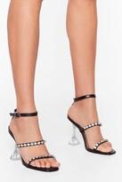 Nasty Gal Womens Bling Me Home Diamante Clear Louis Heels - black - 3