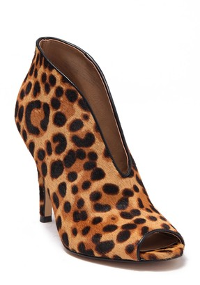 Halogen Rowen Genuine Leopard Printed Calf Hair Bootie