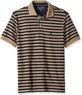 Nautica Men's Standard Classic Short Sleeve Stripe Polo Shirt