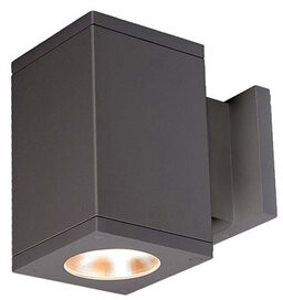 W.A.C. Lighting Cube Architectural LED Outdoor Armed Sconce Fixture Finish: Graphite