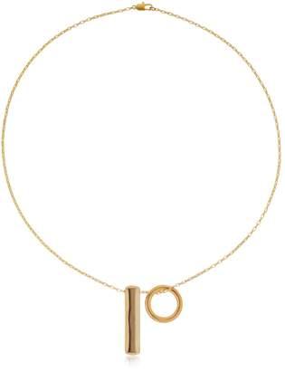 Laura Lombardi Staff & Hoop Necklace