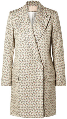Brock Collection Claire Embroidered Cotton And Silk-blend Brocade Coat