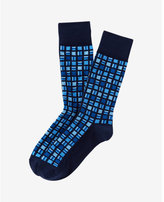 Express geo square print dress socks
