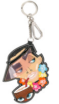 DSQUARED2 cartoon charm keychain - women - Calf Leather/Polyester/Polyurethane - One Size