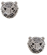 Amrita Singh Siberian Tiger Silver-Tone Stud Earrings