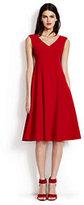 Lands' End Women's Sleeveless Dress-Fresh Tomato