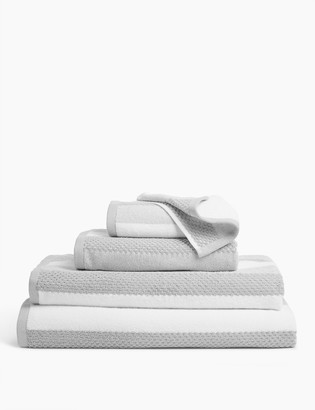 Marks and Spencer Pure Cotton Striped Textured Towel