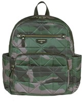 Infant Twelvelittle Companion Quilted Nylon Diaper Backpack - Green