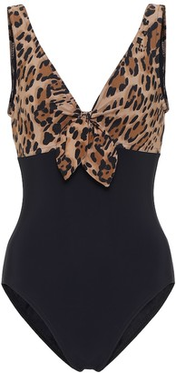 Karla Colletto Bree leopard-print swimsuit