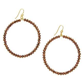 Chan Luu 2.25 Inch Gold Hoop Earrings in Bronze Crystals