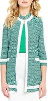 Misook Mandarin Collar 3/4 Sleeve Jacket