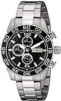 Invicta Men's 1012 II Collection Stainless Steel Black Dial Watch