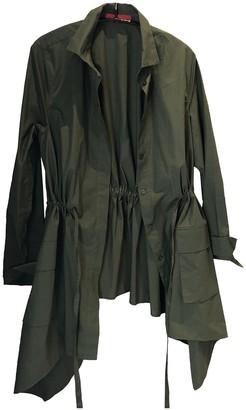 Carolina Herrera Green Cotton Trench Coat for Women