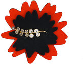 Marni leaf embroidered brooch