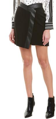 BCBGMAXAZRIA Wrap-Look Mini Skirt