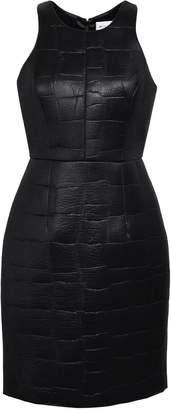 Milly Embossed Coated Scuba Mini Dress