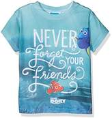 Disney Girl's Finding Dory Never Forget Your Friends Logo Short Sleeve T-Shirt