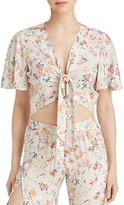 YFB On The Road Rose Floral Tie-Front Crop Top