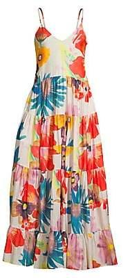 Carolina K. Women's Marietta Floral Cotton Silk Maxi Dress