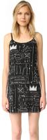Alice + Olivia AO X Basquiat Beat Bop Slip Dress