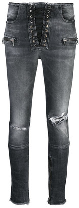 Unravel Project Skinny Lace Up Trousers