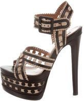 Alaia Cutout Platform Sandals