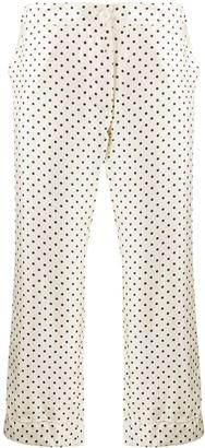 La Prestic Ouiston Cropped Polka Dot Trousers