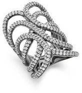 Noir Crystal Studded Ring