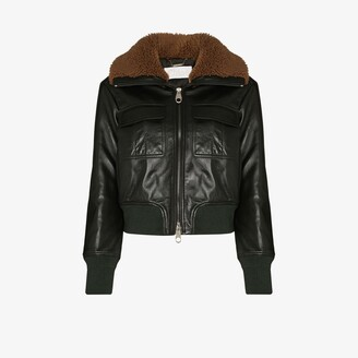 Chloé Leather Aviator Jacket