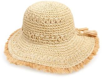 BP Stripe Woven Straw Bucket Hat