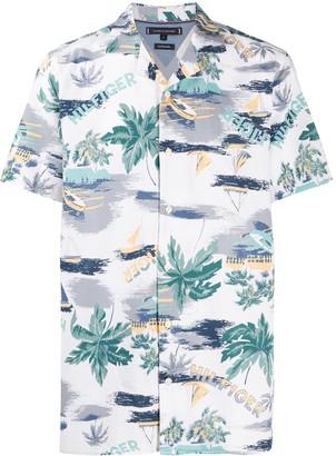 Tommy Hilfiger Palm Print Short-Sleeve Shirt