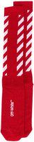 Off-White diagonal stripes socks - women - Cotton/Polyester/Spandex/Elastane/Nylon - One Size
