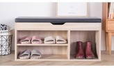 Shoe Rack Storage Entryway Bench Latitude Run Finish: Oak
