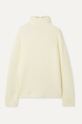 Helmut Lang Ghost Ribbed-knit Turtleneck Sweater - Ivory