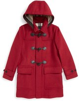 Burberry Girl's 'Mini Burwood' Wool Toggle Coat