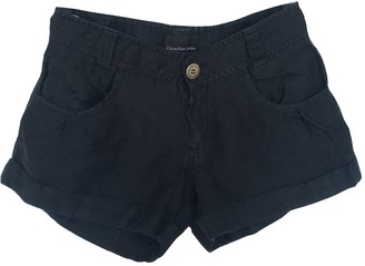 Calvin Klein Black Cloth Shorts for Women