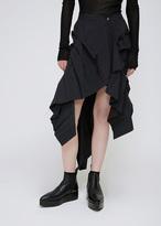 Yohji Yamamoto Black Knife Pleat Skirt