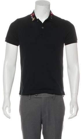 e1af6d55a22 Gucci Black Men's Polos - ShopStyle