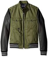Just Cavalli Men's Military Shirt Jacket