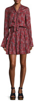 Alexis Elizavetta Long-Sleeve Printed Mini Dress