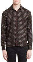 The Kooples Men's Piped Print Sport Shirt