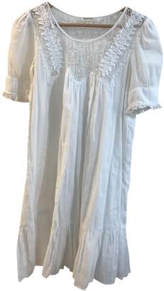 Masscob White Cotton Dresses