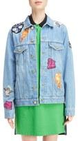 Kenzo Women's Patch Stone Wash Denim Jacket