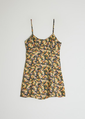 Which We Want Women's Grace Floral Dress in Black/Yellow/Green, Size Small